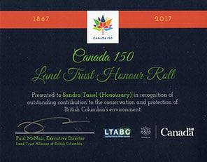 Canada 150 certificate
